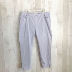 [Soft Surroundings] Periwinkle Ankle Legging Jeans